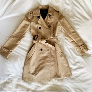 Zara xs tan trench coat